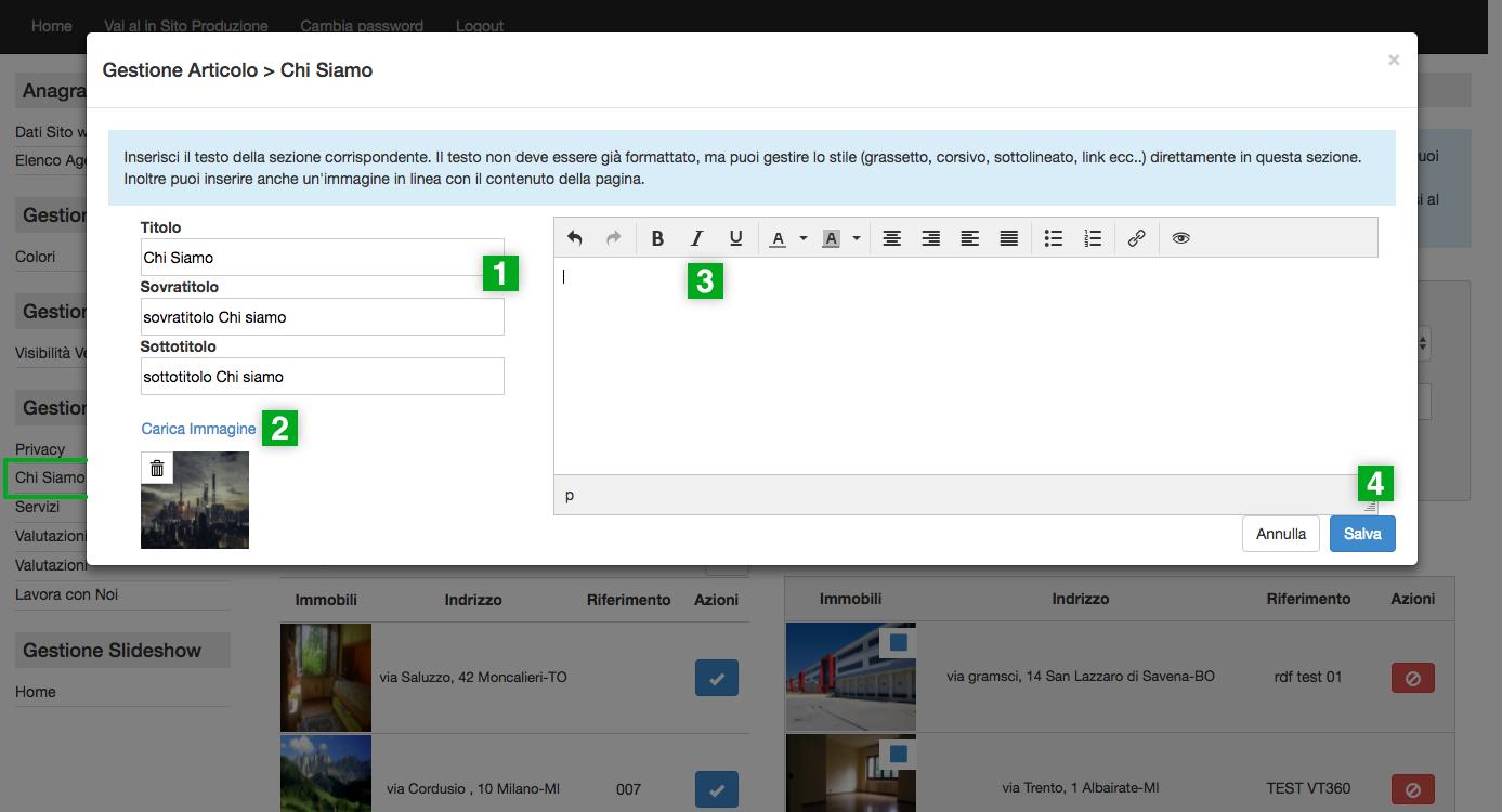 Getrix siti web: tutorial pannello di controllo per la gestione del